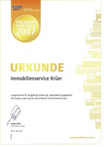 Urkunde Premiumpartner 2017